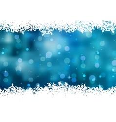 Snowflakes christmas card vector