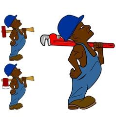 Worker Man vector image vector image