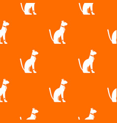 egyptian cat pattern seamless vector image