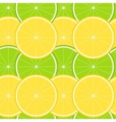 Lemon and Lime Seamless Pattern vector image