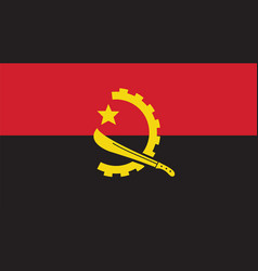 angola flag for independence day and infographic vector image vector image