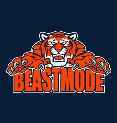 Beastmode tiger vector