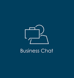 business chat symbol vector image vector image