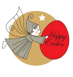 Easter egg and elf vector image