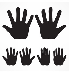Hand silhouette set vector image