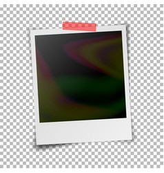 instant photo frame photorealistic vector image vector image