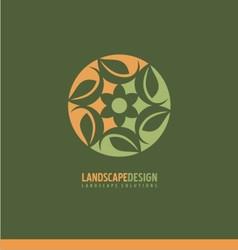 landscapingVS vector image vector image