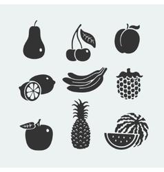 Set of symbols fruit vector image