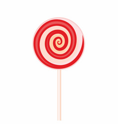 sweet candy on stick sign or symbol isolated on vector image vector image