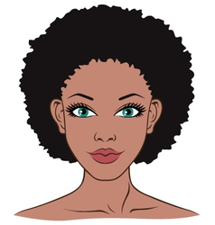 woman face closeup vector image vector image
