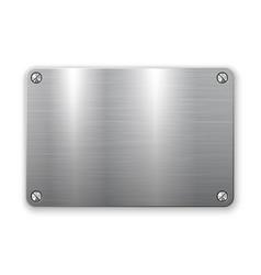3d metal plate vector