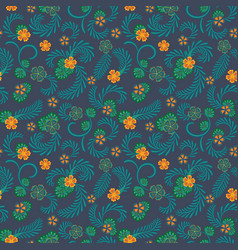 A simple floral pattern convenient for editing vector