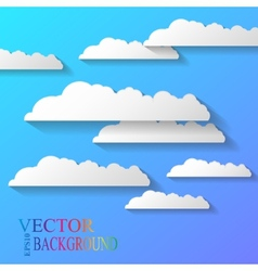 Abstract background composed white paper vector