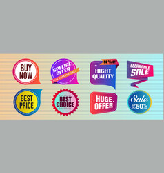 abstract creative sale related badge set vector image