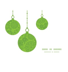 Abstract green and white circles christmas vector