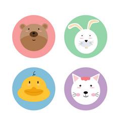 animals pet wildlife circle icon logo label vector image