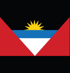 Antigua and barbuda flag for independence day and vector