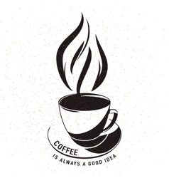 Aroma cup coffee vector
