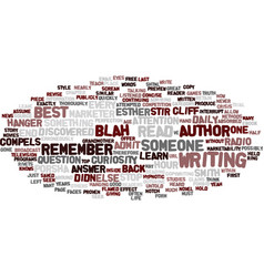 Author within text background word cloud vector