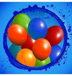 Balloons circle background vector