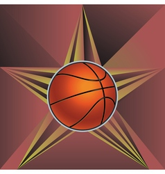 Basketball Ball on Rays Background6 vector image