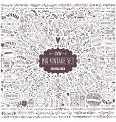 big set vintage elements vector image