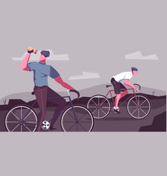 Bike ride flat composition vector