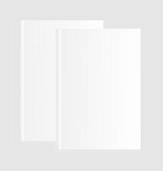 blank empty magazine template vector image