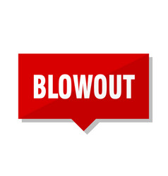 Blowout red tag vector