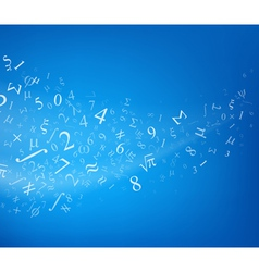 Blue background with numbers vector image