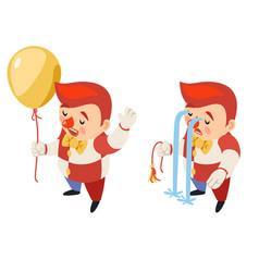 Burst balloon isometric circus party fun sad vector