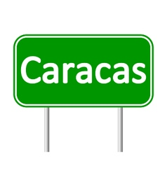 Caracas road sign vector