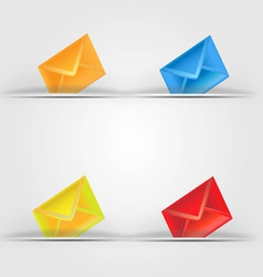 Colorful email icon vector