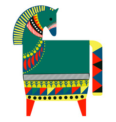 Colorful horse simple on white vector