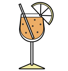 Colorful orange and yellow sparkling aperol vector