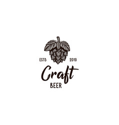 craft beer vintage logo vector image