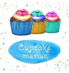 Cupcakes Menue vector
