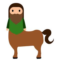 Cute centaur icon vector