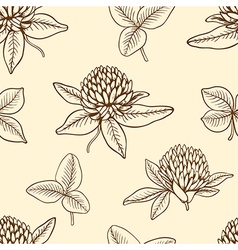Decorative seamless pattern with clover vector image