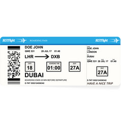 design of aircraft boarding pass ticket vector image