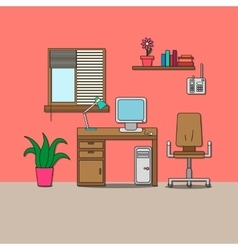 Design of room - cabinet vector image