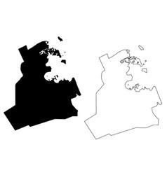 Doha city state qatar ad-dawhah municipality vector