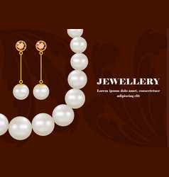 Fashion jewellery concept background realistic vector