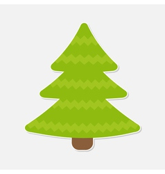 Fir tree Christmas tree Isolated vector