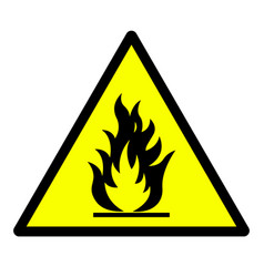 flammable material hazard sign vector image