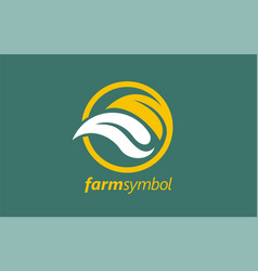 fresh farm food logo design vegan vegetarian vector image
