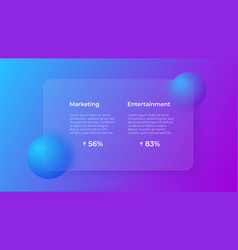 Glassmorphism concept with 3d geometric shapes vector