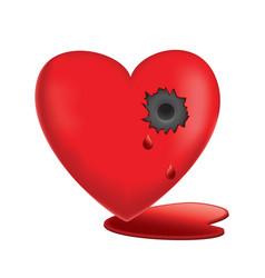 Glassy heart vector