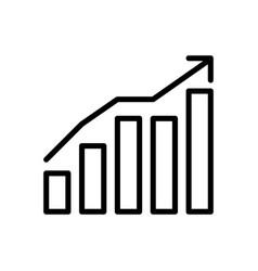 Graph marketing icon vector