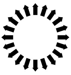 Group of arrows following a circle pointing vector